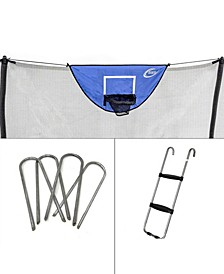 Accessory Kit with Basketball Game, Windstakes Wide Step Ladder