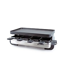 SWISSMAR 8 Person Stelvio Raclette Party Grill with Reversible Grill Plate