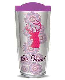 Oh Deer Double Wall Insulated Tumbler, 16 oz