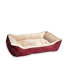 All Season Reversible Pet Bolster Pet Bed, Medium Size
