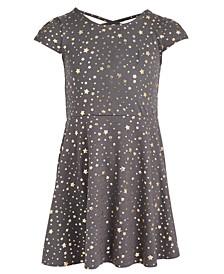 Little Girls Metallic Star Dress, Created For Macy's