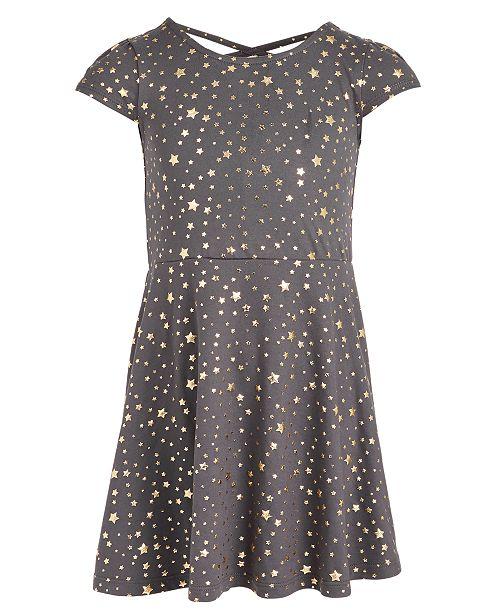 Epic Threads Little Girls Metallic Star Dress, Created For Macy's