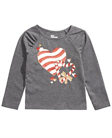 Epic Threads Little Girls Candy Heart T-Shirt, Created For Macy's