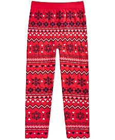Epic Threads Big Girls Fairisle Sweater Leggings, Created For Macy's