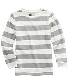 Little Boys Oatmeal Stripe Thermal Long Sleeve T-Shirt, Created For Macy's