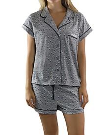 Printed Top & Shorts Girlfriend Pajamas Set