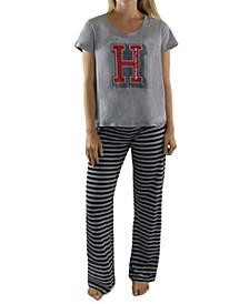 Logo T-Shirt & Striped Pants Pajamas Set