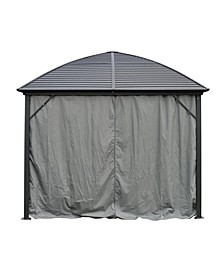 UV-Protective Polyester Curtain Panels for Hardtop Round Roof Gazebo