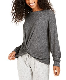 Juniors' Cozy Twist-Front Top