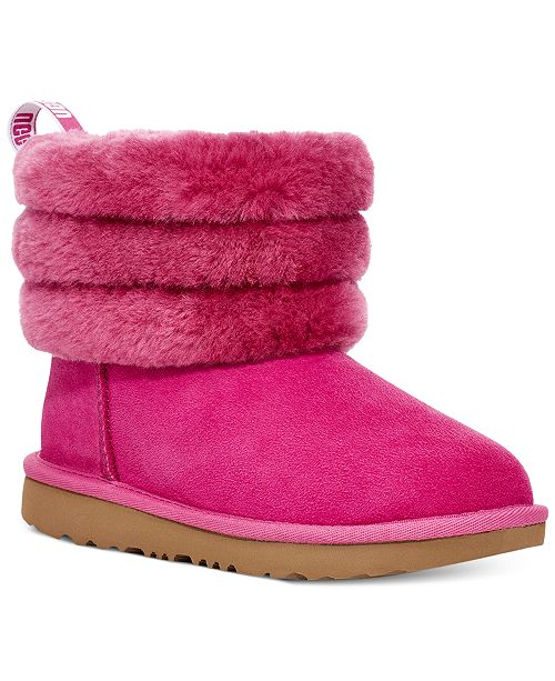 UGG® Toddler Girls Fluff Mini Quilted Boots