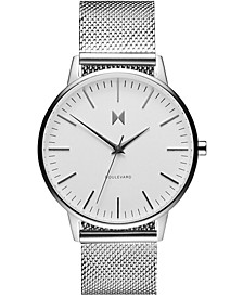 Women's Boulevard Venic Stainless Steel Mesh Bracelet Watch 38mm