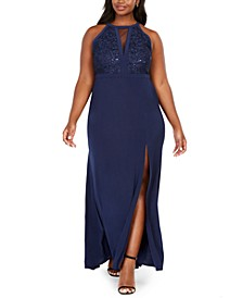 Trendy Plus Size Sequined-Bodice Gown