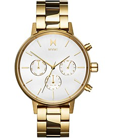 Women's Nova Solis Gold-Tone Stainless Steel Bracelet Watch 38mm