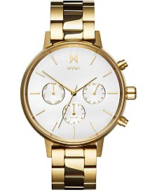 MVMT Women's Nova Solis Gold-Tone Stainless Steel Bracelet Watch 38mm