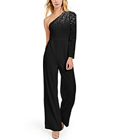 One-Shoulder Bling Jumpsuit