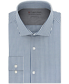 Calvin Klein Men's Extra-Slim Fit Performance Stretch Temperature Regulating Check Dress Shirt