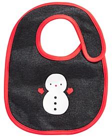Baby Boys Snowman Bib, Created For Macy's