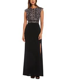 Morgan & Company Juniors' Lace-Bodice Gown