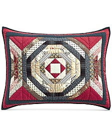 Martha Stewart Collection Artisan Patchwork King Sham, Created For Macy's