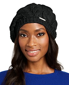 Patchwork Cable-Knit Beret