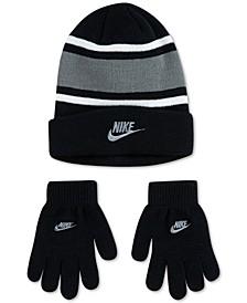 Big Boys 2-Pc. Futura Stripe Beanie & Gloves Set