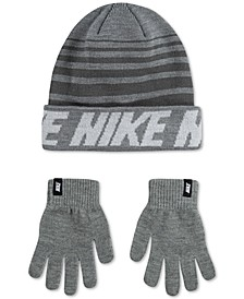 Big Boys 2-Pc. Repeat Stripe Beanie & Gloves Set