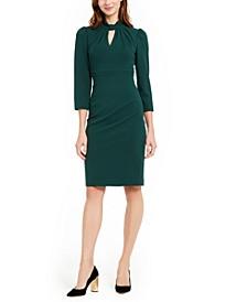 Keyhole Puff-Sleeve Dress