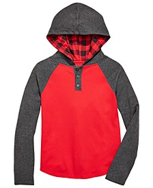 Big Boys Colorblocked Thermal Hoodie, Created For Macy's