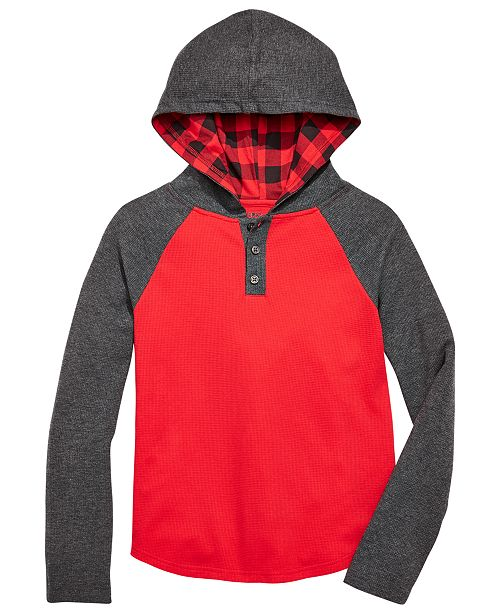 Epic Threads Big Boys Colorblocked Thermal Hoodie, Created For Macy's
