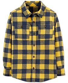 Carter's Little & Big Boys Cotton Flannel Plaid Shirt