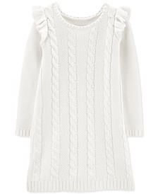 Big & Littler Girls Cable-Knit Sweater Dress