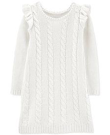 Carter's Big & Littler Girls Cable-Knit Sweater Dress