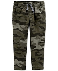 Baby Boys Jersey-Lined Camo Pants