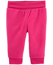 Baby Girls Hot Pink Fleece Pants