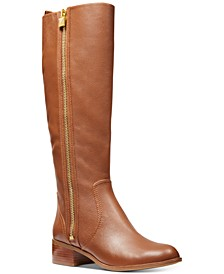 Frenchie Leather Tall Riding Boots