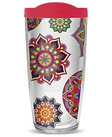 Colorful Boho Mandal Double Wall Insulated Tumbler, 16 oz