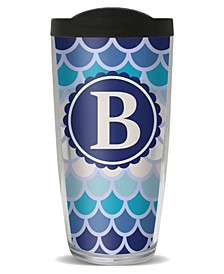 Scallop Pattern - B Double Wall Insulated Tumbler, 16 oz