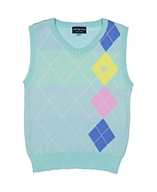 Baby Boy's Mint Argyle Sweater Vest