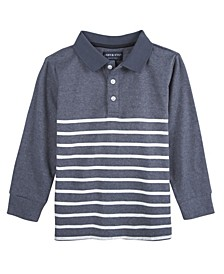 Baby Boy's Stripe Long Sleeve Polo