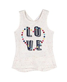 "Baby Girl's ""Love"" Tank with Crisscross Back"