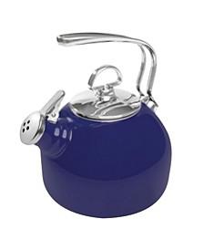 1.8Qt. Classic Enamel-On-Steel Teakettle - Cobalt Blue