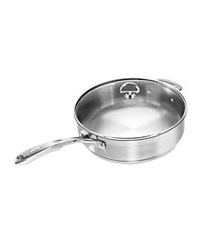 Induction 21 Steel Cookware 5Qt. Saute Skillet With Glass Lid