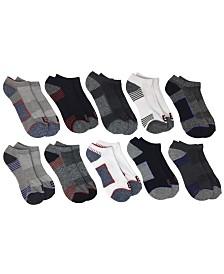 Locker Room Men's 10-Pack Cushion Ankle Athletic Socks