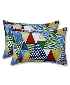 Tribune Multi Over-Sized Rectangular Throw Pillow, Set of 2