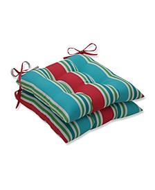 Aruba Stripe Wrought Iron Seat Cushion, Set of 2