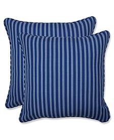 "Resort Stripe 16"" x 16"" Outdoor Decorative Pillow 2-Pack"