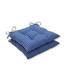 Resort Stripe Wrought Iron Seat Cushion, Set of 2