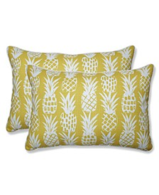 Pineapple Over-Sized Rectangular Throw Pillow, Set of 2