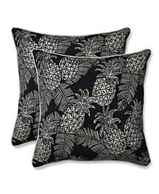 "Pineapple Batik 18"" x 18"" Outdoor Pillow 2-Pack"