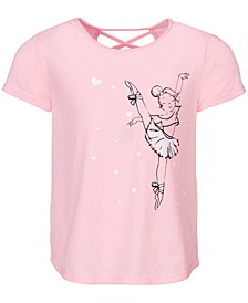 Toddler Girls Graphic-Print Cross-Back T-Shirt, Created for Macy's